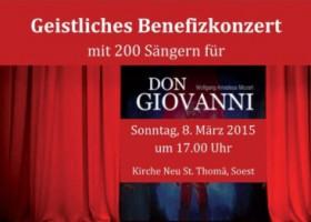 """Benefizkonzert zu Gunsten von """"Don Giovanni"""" mit 200 Sängern"""