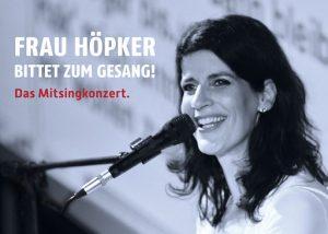 So 01.03.2020: Frau Höpker bittet zum 8. Mal im Brilon zum Gesang – AUSVERKAUFT